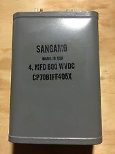 Sangamo paper in oil capacitor