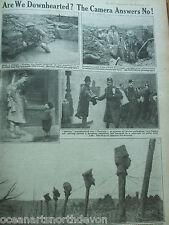 Antica Stampa 1917 la guerra illustrata siamo affranta? la fotocamera non risposte