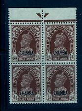 1942-47 CHAMBA, SG100 CAT £340 KGVI 8 ANNA,INDIA,INDIAN CONVENTION STATES