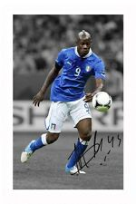 MARIO BALOTELLI - ITALY AUTOGRAPHED SIGNED A4 PP POSTER PHOTO