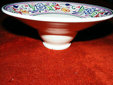 "Poole 1960's Flower Decorated Tazza / Bowl On Stand  8.1/2"" Diameter Ht 3.1/4"""