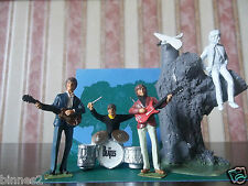 "THE BEATLES ""LEAD"" HAND PAINTED FIGURES "" FREE AS A BIRD "" SET JOHN AS ANGEL"