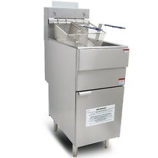New Infernus High Power Lpg Gas Chip Fryer 3 Burners Single Tank Twin Basket