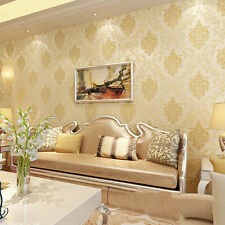 10m 3D Embossed Non-woven Luxury Wallpaper Roll Living Room Bedroom DecorationEK