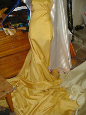 "5M GOLD  TAFFETA  FABRIC 58"" WIDE"