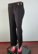 Womans Ladies Office Formal Straight Black Tailored Trousers Pants size 16 I37