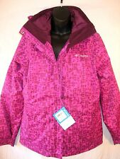 $230 COLUMBIA CABIN CHILLS Pink Purple 3 in 1 INTERCHANGE JACKET Small