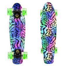 Graphic Penny Style Cruiser Board 22 inch Retro Plastic Skateboard Complete