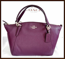 NWT $295 Coach Small Pebbled Leather Kelsey Hand Bag Satchel DEEP PLUM '17 36675