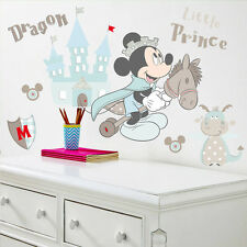 Disney Mickey Mouse nursery wall stickers dragon, Château, enfants, bébé, cheval