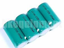 17335 16340 RCR123 CR123A 3.0v Li-ion Rechargeable 1000 mAh Battery x4