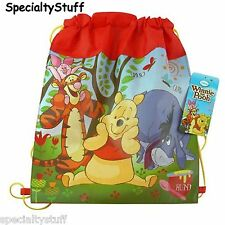 "NEW DISNEY WINNIE THE POOH NON WOVEN SLING BAG JUNIOR 14""x11"" GIFT BAG"