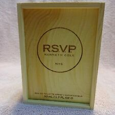 R.S.V.P By Kenneth Cole For Men-1.7oz/50ml-Brand New In Vintage Wood Box Packing
