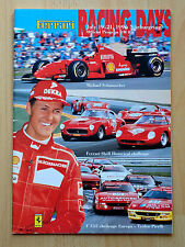 Ferrari racing Days 1996, Nürburgring, Official programme (first time in Germany)