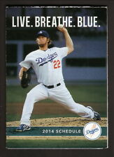 Clayton Kershaw--2014 Los Angeles Dodgers Schedule--Sports Authority