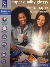 WHS Photo Paper 260gsm A4 For Inkjet Printers High Gloss White 100 Sheets