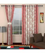 Elegance Pink Floral  Polyester 1 Window  Curtain