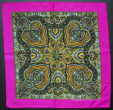 Paisley Style BANDANNA Handkerchief Head Scarf Pink Multi Coloured Neck Scarf
