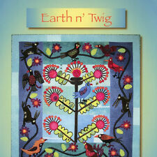 EARTH N' TWIG Sue Spargo NEW BOOK Applique Embroidery Quilt Barcelona Pottery