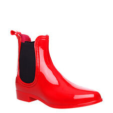 WOMEN LADIES ANKLE FLAT WELLINGTON WELLIE RAIN SNOW WATERPROOF CHELSEA BOOT SIZE