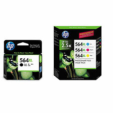 New 4 Genuine HP 564XL Color Set B C M Y Ink Cartridges Photosmart  C6300 C6388