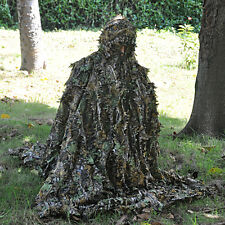 Military Hunting Camo 3D Leaf Ghillie Training Suit birdwatching Poncho Cloak