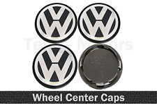 4 x 65mm/56mm VW Volkswagen Wheel Alloy Rims Center Caps Passat Golf Sharan Polo
