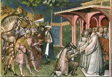 Vecchia cartolina Arte-SPINELLO ARETINO-S. Benedetto riceve re Totila