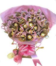 Ferrero Rocher Chocolate Gift Basket Bouquet 34 artículos-Rosas Y Golds - *