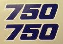 KAWASAKI ZXR750 ZXR750H ZXR750H1 ZXR750H2 SEAT UNIT TAIL DECALS