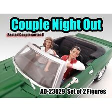 SEATED COUPLE 2PC FIGURE SET RELEASE 2 1:24 BY AMERICAN DIORAMA 23829