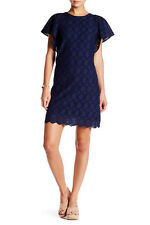 NWOT! $108 J. Crew Flutter-Sleeve Scalloped Eyelet Dress |SZ 2| A061