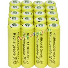 20x AA battery batteries Bulk Nickel Hydride Rechargeable NI-MH 3000mAh 1.2V Yel