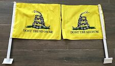 "Gadsden Dont Don't Tread Double Sided  Nylon Car 2Flags Window Vehicle 12""x15.5"""
