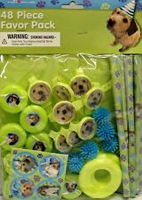 PUPPY PARTY FAVOR PACK 48pc ~  Pet Dog Birthday Party Supplies Loot Goody Treat
