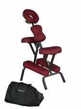 "4"" PROFESSIONAL FOAM PORTABLE MASSAGE CHAIR TATTOO SPA SALON CHAIR BURGUNDY-632"