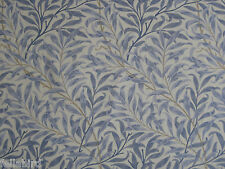 "WILLIAM MORRIS CURTAIN FABRIC""Willow Bough's Major"" 1.2 MTRS CHINA BLUE & CREAM"