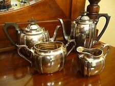 Walker & Hall Sheffield Silver Plate Coffee Tea Set 1920 Presentation Scotland