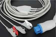 3 Leads GE Datex Ohmeda ECG Cable G3110P Compatible Pinch AS/3 CS/3