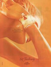 Publicité Advertising 2001  Parfum  HERMES  24 ,  Faubourg
