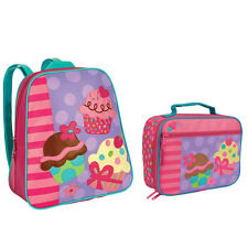 Stephen Joseph Girls Cupcake School Backpack and Lunch Box for Kids - Book Bags