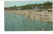 Vintage Postcard Crystal Beach Ontario Canada Bathing Swimmers Swimming