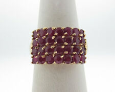 Estate Natural Ruby 2.80cts Solid 10k Yellow Gold Ring FREE Sizing