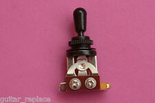 Selector Toggle Cromado Tip Y Rosca Negro Switch 3 Posiciones Guitarra LP 335