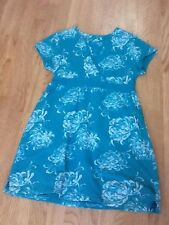 """Women's 38"""" Turquoise Coloured Flowered Dress"""