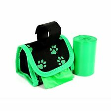 Pet Pouches w/ Dispenser Waste Roll (Dog Poo Bags) Poop Pickup Duffel Refillable