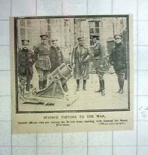 1917 Spanish Officers Visiting British Front Chat Sir Henry Rawlinson