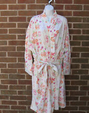 Silhouettes Yellow Floral Cotton Robe size 2X NEW Plus Womens Spring Summer