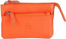 Primehide Womens Small Leather Zipped Coin Purse , 9 Fab Colours New Stock ! 764