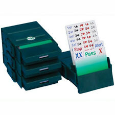 BRIDGE partner Bidding BOX-VERDE-Set di 4